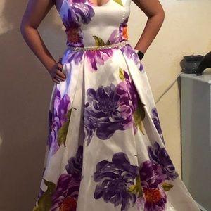B Darlin Dresses - B. Darlin, floral gown